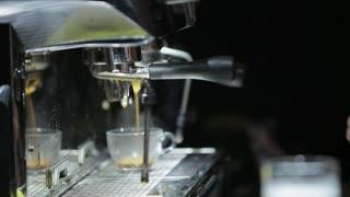 Baristas is preparing coffee