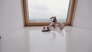 Beautiful bridal wedding shoes