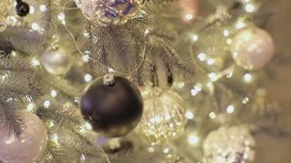 Beautiful Christmas decorations on Christmas tree