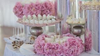 Beautiful wedding candy bar