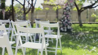 Beautiful wedding decor. Wedding ceremony