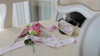 Beautiful wedding rings.Beautiful wedding decor.