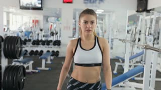 Close-up of a walking sports trainer in the gym