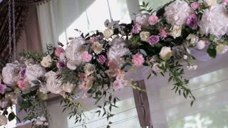 decoration with flowers for wedding ceremony