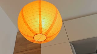 Home interior, modern lamp in apartment