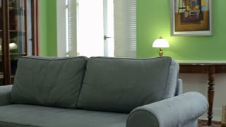 Home interior walk through living room warehouse conversion empty space classic apartment