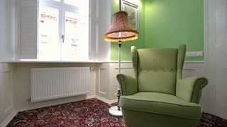 Modern Lamp in living room. Home interior. classic apartment