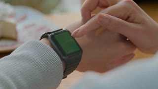 216e8827daa538 4K Smartwatch Grocery List To do App On Screen Stock Video Footage - Storyblocks  Video