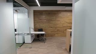 Steadicam. Modern Office Interior. Smooth motion. Business center.