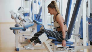 Woman starting workout using fitness app.