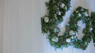 wedding decorations.decorations of word love with flowers