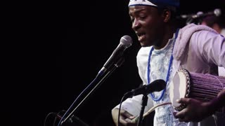 African singer on gig
