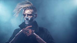 an Evil man with halloween makeup
