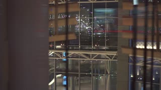 futuristic elevator in the modern building