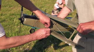 Model Aircraft in hands