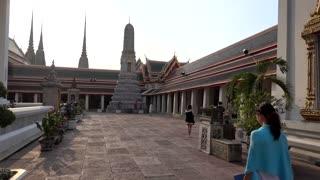 tourist girl in Budda temple