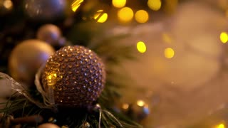 Christmas Decoration, balls and lights
