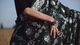 Indian hands waving
