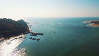 Indian ocean, fishing boats