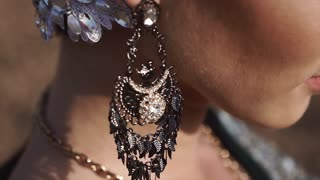 Indian woman portrait, earings