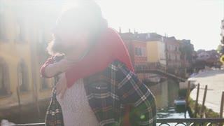 Sweet couple having fun in Venice