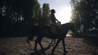 Teaching how to ride a horse