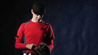 Teenage baseball player training