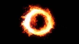 Looping Burning Wreath 1080p