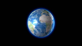 Seamless Rotating Earth 1080p with Alpha Channel