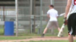 Boys baseball team at batting practice (4 of 5)