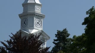 Clock tower in village