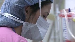 Closeup of Nurse's face (2 of 2)