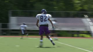 High school football team at practice  (10 of 11)