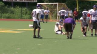 High school football team at practice  (3 of 11)