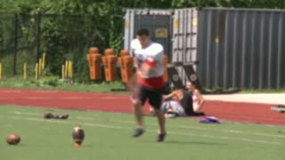 High school football team at practice  (5 of 11)