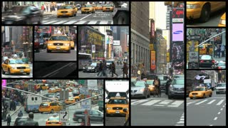 NYC Times Square montage