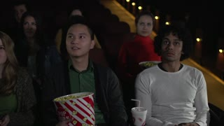 Scene from inside a movie theater