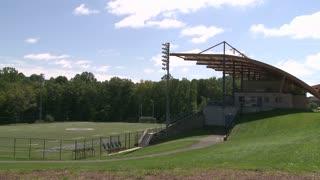 View of an empty baseball field