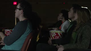 Young people watching a movie (5 of 7)