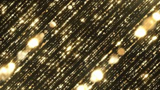 Particles gold flicktering glitter award dust abstract background loop 02