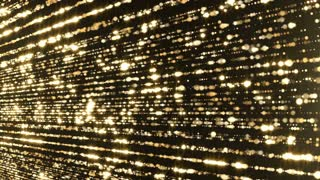 Particles gold flicktering glitter award dust abstract background loop 04