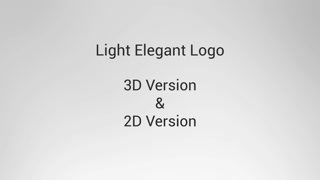 Light Elegant Logo Reveal Opener Promo Intro Particles Abstract Light Modern