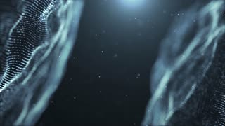 Particles dust abstract light motion titles cinematic background 32
