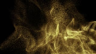 Particles gold glitter bokeh award dust abstract background loop 08