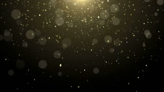 Particles gold glitter bokeh award dust abstract background loop 12