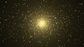Particles gold glitter bokeh award dust abstract background loop 13