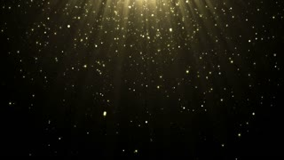 Particles gold glitter bokeh award dust abstract background loop 14