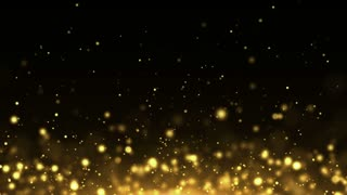 Particles Gold Glitter Bokeh Award Dust Abstract Background Loop 16