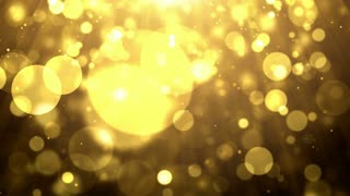 Particles gold glitter bokeh award dust abstract background loop 17