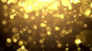 Particles gold glitter bokeh award dust abstract background loop 18